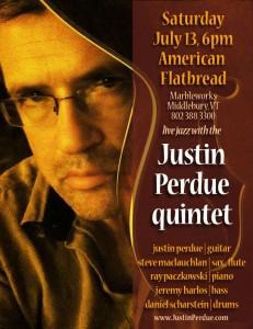 Justin Perdue Quintet live at American Flatbread
